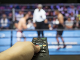 テレビのリモコンとボクシングの試合
