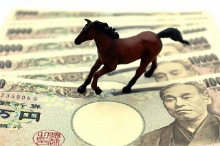一万円札の上の馬